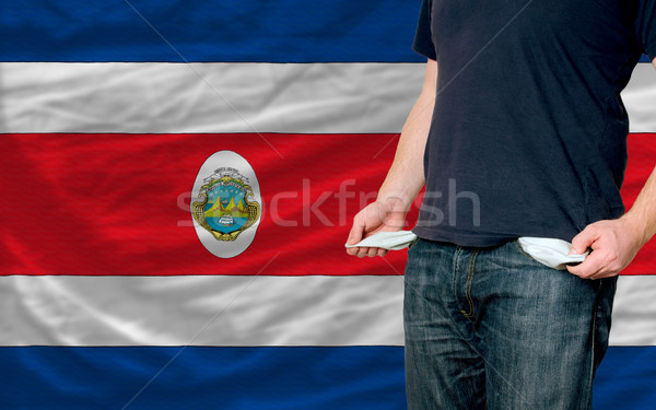Recesja młody człowiek społeczeństwo Kostaryka ubogich człowiek Zdjęcia stock © vepar5