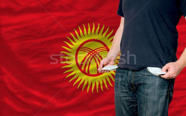 Durgunluk genç toplum Kırgızistan yoksul adam Stok fotoğraf © vepar5