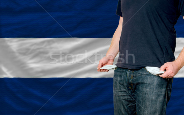 recession impact on young man and society in nicaragua Stock photo © vepar5
