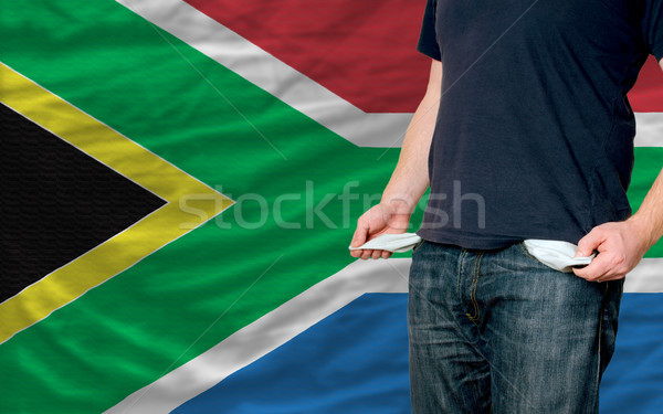 Recessie jonge man samenleving South Africa arme man Stockfoto © vepar5