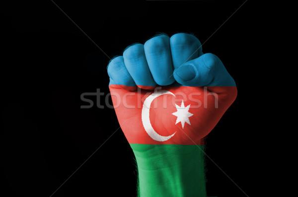 Puno pintado colores Azerbaiyán bandera bajo Foto stock © vepar5