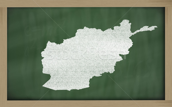 outline map of afghanistan on blackboard  Stock photo © vepar5