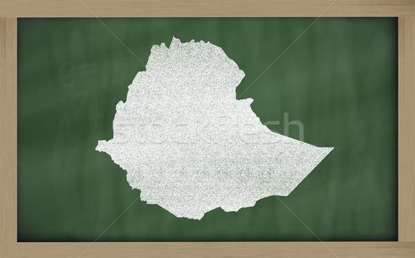 карта Эфиопия доске рисунок Сток-фото © vepar5