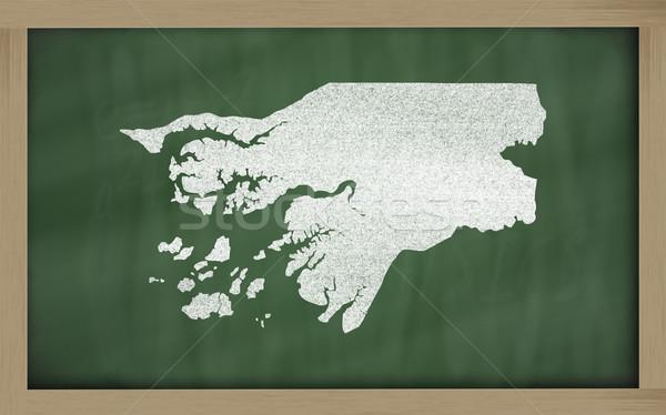 outline map of guinea bissau on blackboard  Stock photo © vepar5