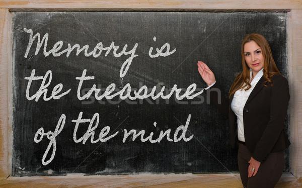 Leraar tonen geheugen schat geest Blackboard Stockfoto © vepar5