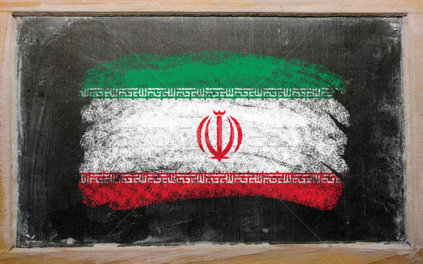 Bandeira Irã lousa pintado giz cor Foto stock © vepar5