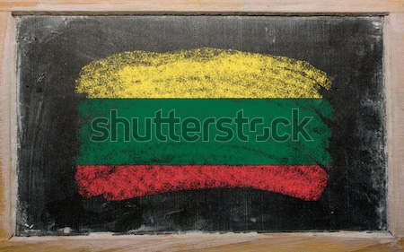 flag of lithuania on blackboard painted with chalk   Stock photo © vepar5