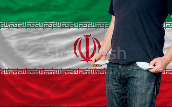 recession impact on young man and society in iran Stock photo © vepar5
