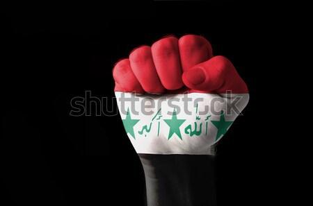 Kalp sevmek jest eller bayrak Irak Stok fotoğraf © vepar5