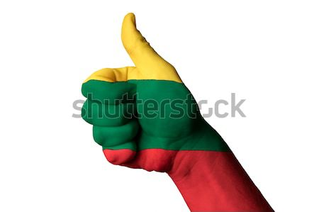 lithuania national flag thumb up gesture for excellence and achi Stock photo © vepar5