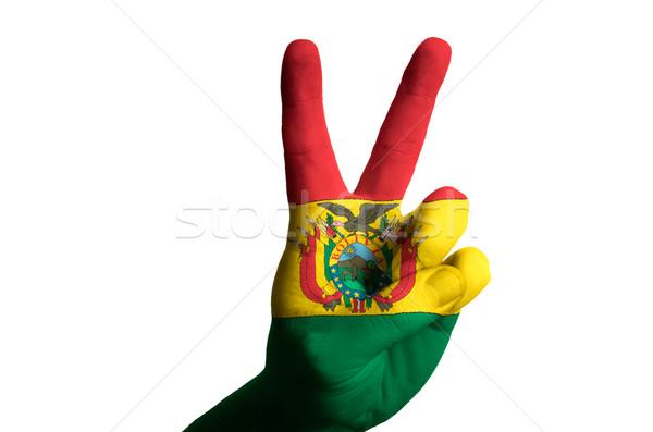 ボリビア フラグ 2 指 アップ ジェスチャー ストックフォト © vepar5