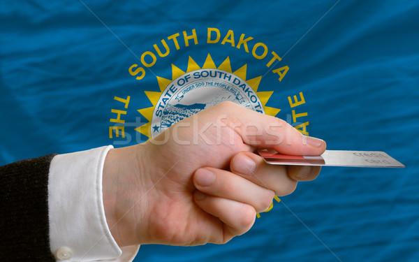 Kopen creditcard South Dakota man uit Stockfoto © vepar5