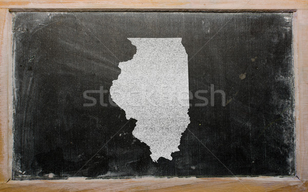 Harita Illinois tahta çizim amerikan Stok fotoğraf © vepar5
