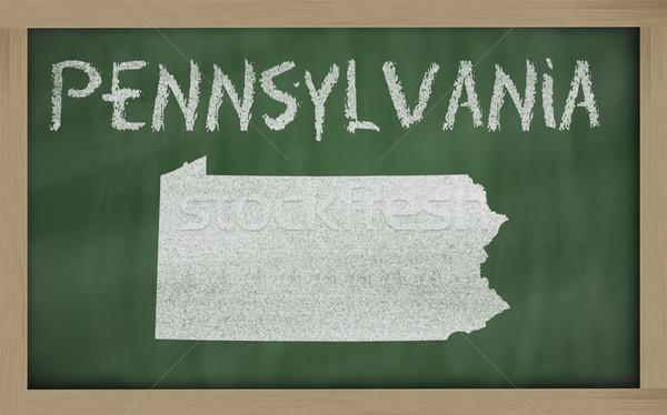 карта Пенсильвания доске рисунок доске Сток-фото © vepar5
