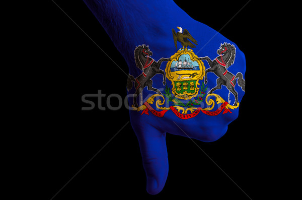 Pensilvania bandera abajo gesto fracaso Foto stock © vepar5