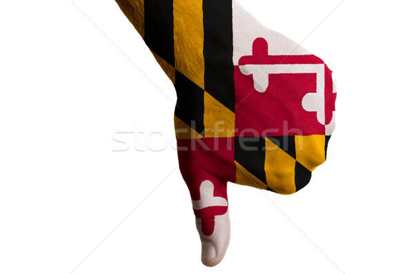 maryland us state flag thumbs down gesture for failure made with Stock photo © vepar5