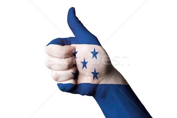 Honduras bandera pulgar hasta gesto excelencia Foto stock © vepar5
