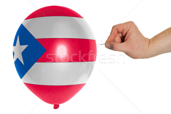 Bursting balloon colored in  national flag of puertorico    Stock photo © vepar5