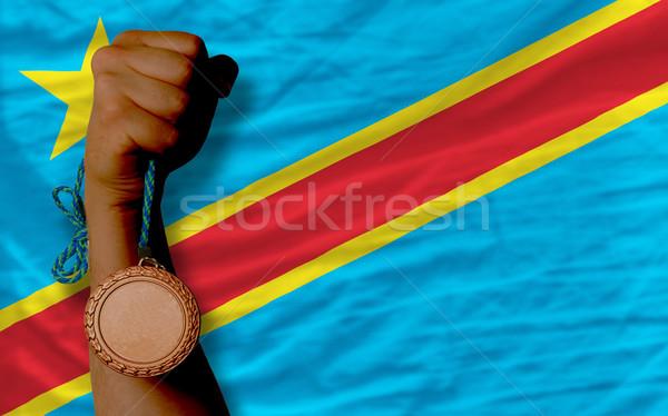 青銅 金メダル スポーツ フラグ コンゴ ストックフォト © vepar5