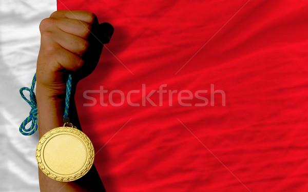 Medalha de ouro esportes bandeira Bahrein vencedor Foto stock © vepar5