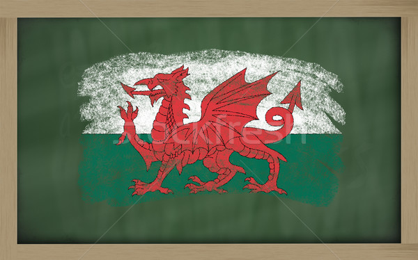 national flag of wales on blackboard painted with chalk Stock photo © vepar5