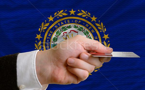 Kopen creditcard New Hampshire man uit Stockfoto © vepar5