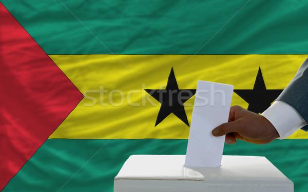 男 投票 選挙 フラグ pr 投票 ストックフォト © vepar5