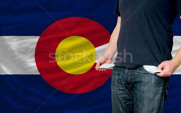 Recessie jonge man samenleving Colorado arme man Stockfoto © vepar5