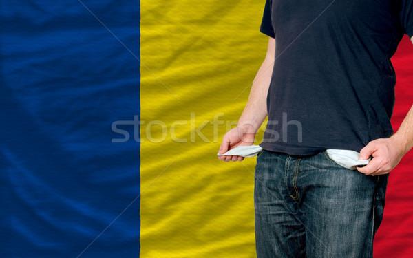 Recessão moço sociedade Romênia pobre homem Foto stock © vepar5