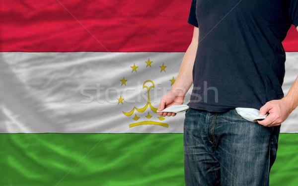 Recesión joven sociedad Tayikistán pobres hombre Foto stock © vepar5