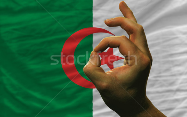 вызывать жест Алжир флаг человека Сток-фото © vepar5