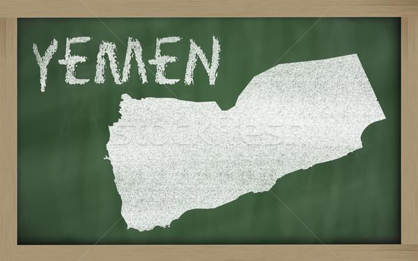 Mapa Iémen lousa desenho Foto stock © vepar5