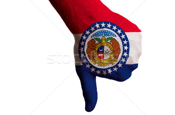 Missouri bandeira para baixo gesto falha Foto stock © vepar5