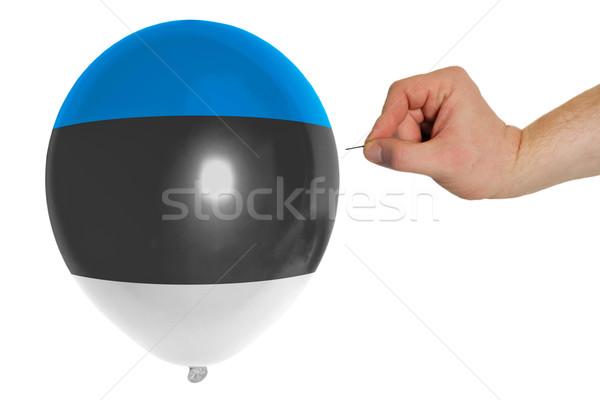Globo bandera Estonia concepto política Foto stock © vepar5