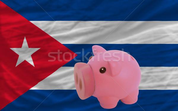 Ricca banca bandiera Cuba Foto d'archivio © vepar5