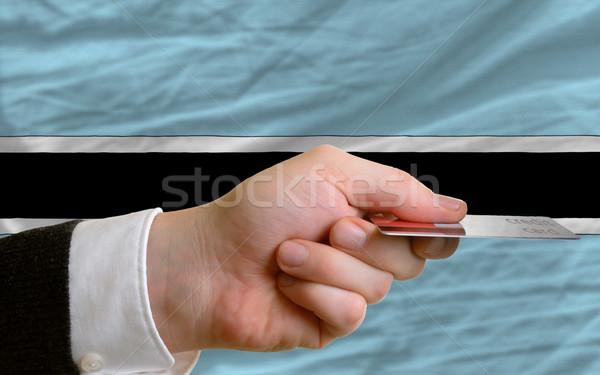 Kopen creditcard Botswana man uit Stockfoto © vepar5