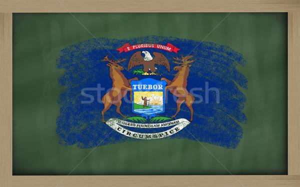 Bandiera Michigan lavagna verniciato gesso americano Foto d'archivio © vepar5