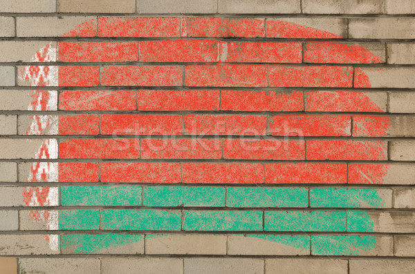 flag of belarus on grunge brick wall painted with chalk   Stock photo © vepar5