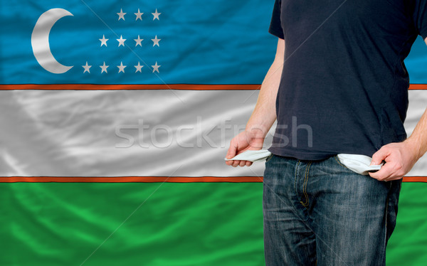 recession impact on young man and society in uzbekistan Stock photo © vepar5
