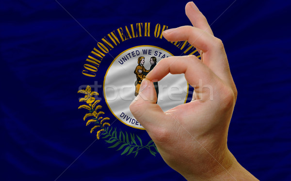 ok gesture in front of kentucky us state flag Stock photo © vepar5