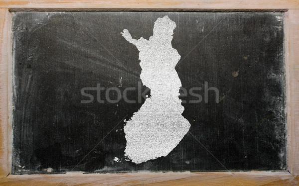 Mapa Finlândia lousa desenho Foto stock © vepar5
