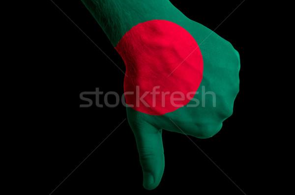 Bangladesh bandeira polegar para baixo gesto falha Foto stock © vepar5