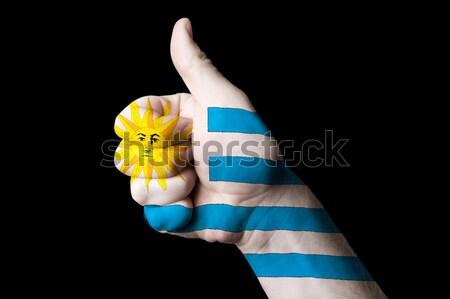 Belçika bayrak başparmak yukarı jest mükemmellik Stok fotoğraf © vepar5