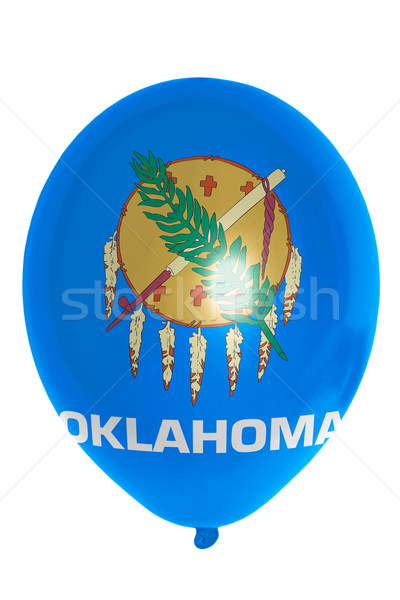 шаре флаг американский Оклахома счастливым Сток-фото © vepar5