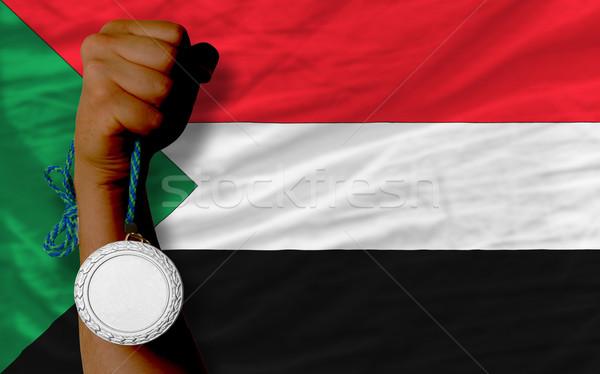 Zilver medaille sport vlag Soedan Stockfoto © vepar5