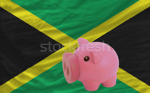piggy rich bank and  national flag of jamaica    Stock photo © vepar5