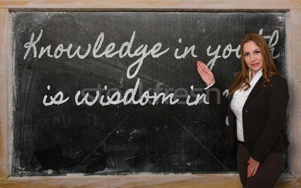 Maestro conocimiento jóvenes sabiduría edad Foto stock © vepar5