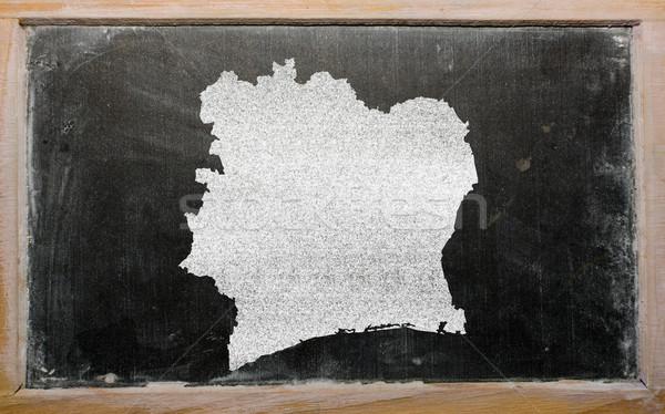 Skicc térkép Elefántcsontpart iskolatábla rajz rajzolt Stock fotó © vepar5