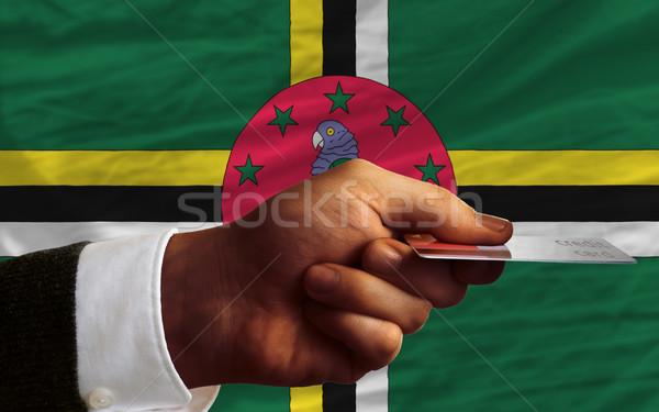Compra cartão de crédito Dominica homem fora Foto stock © vepar5
