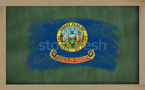 Zászló Idaho iskolatábla festett kréta amerikai Stock fotó © vepar5